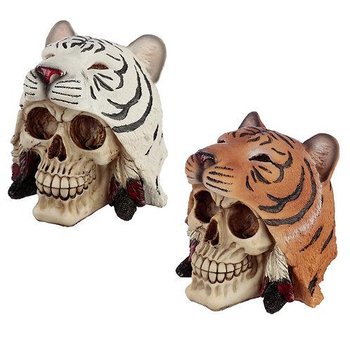 Fantasy Skull in Tiger Headdress