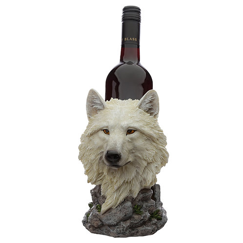 White Dream Walker Protector of the North Wolf Bottle Holder