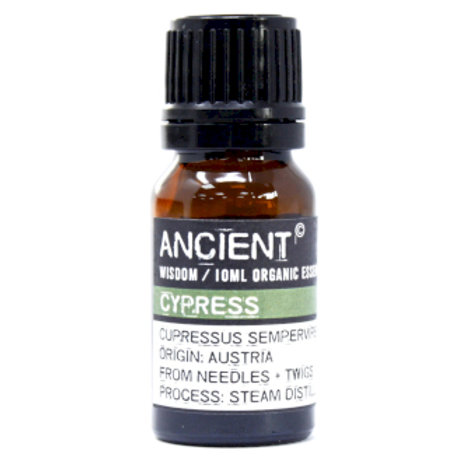 Cypress Organic Essential Oil Front View 10ml