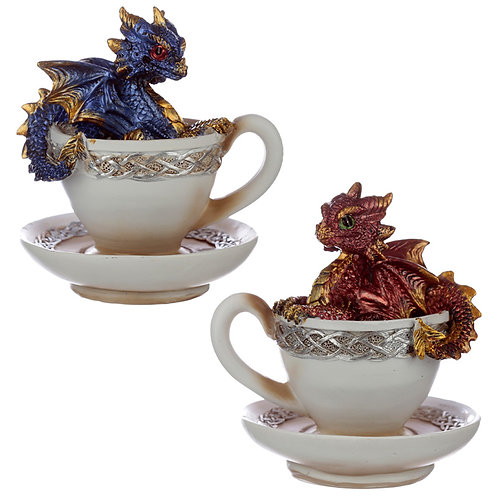 Elements Baby Dragon in a Teacup View of Two