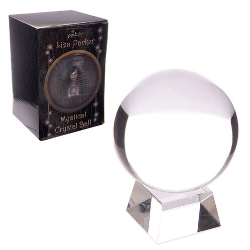 Decorative Mystical 10cm Crystal Ball with Stand Plus Box