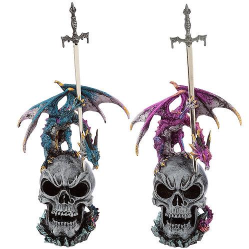 Sword Master Dark Legends Dragon Figurine Two Figures