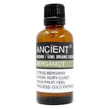 Bergamot Organic Essential Oil 50ml Bottle