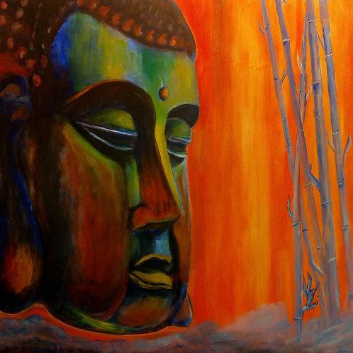 Original Buddha Painting full view