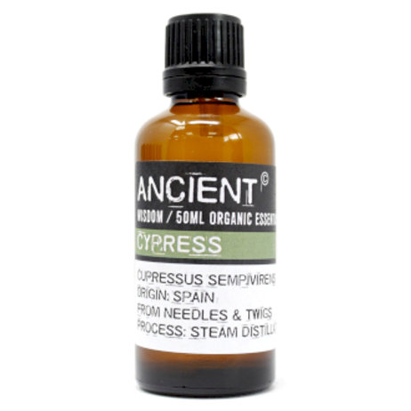 Cypress Organic Essential Oil 50ml Bottle