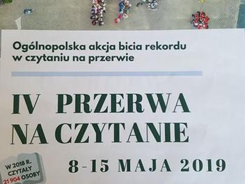 Ogólnopolska akcja bicia rekordu czytania na przerwie.