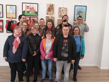 """Wystawa pt. """" Czterech twórców"""" w Osiedlowym Domu Kultury"""
