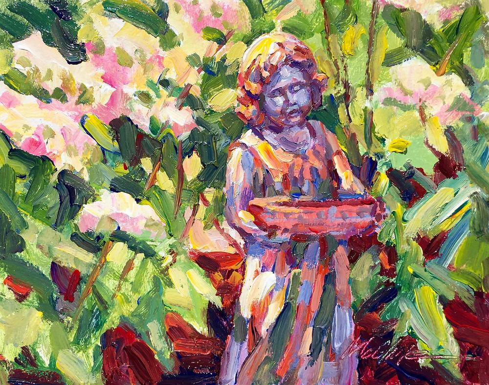 Flower Girl and Hydrangeas