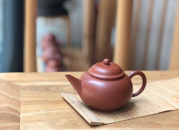 朱泥小宮燈紫砂茶壺