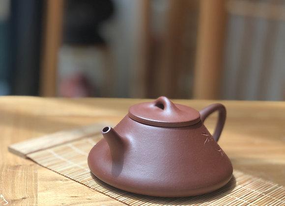 宜興紫泥子治石瓢壺