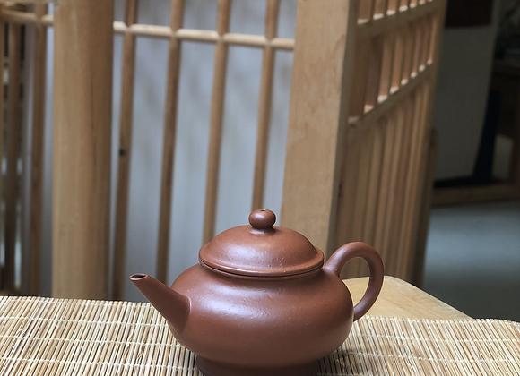正宗宜興朱泥紫砂水平壺