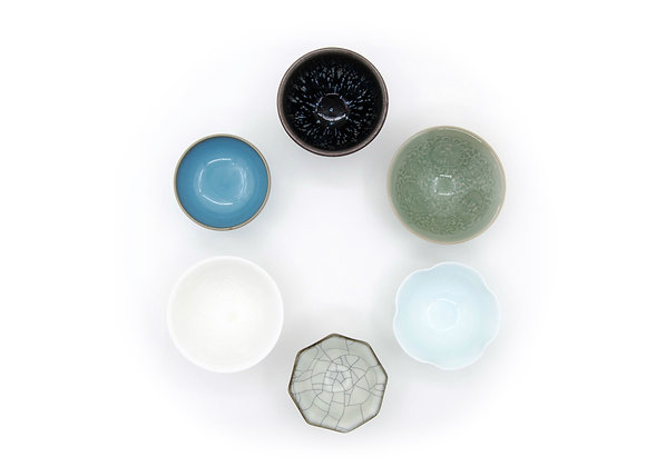 各式仿古茶盞  一套六只 A Set of Six Antique Styled Tea Cups