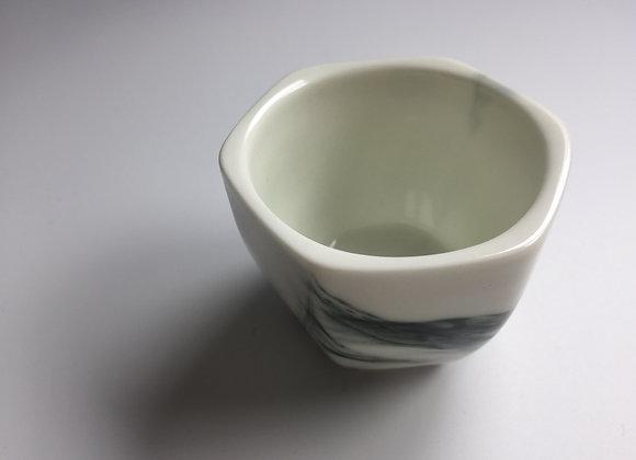 墨彩六角茶盞 Ink Coloured Tea Cup