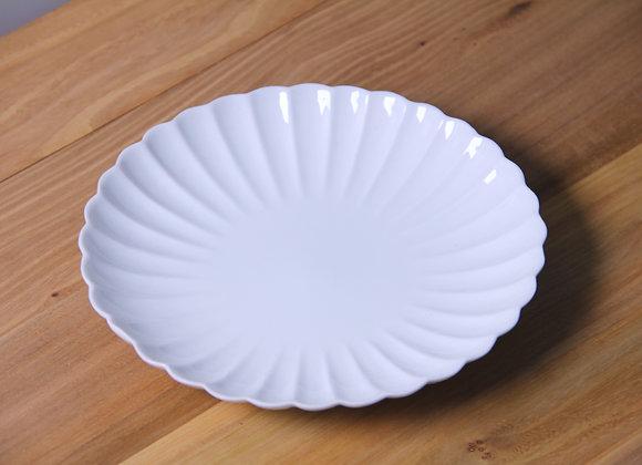 白瓷菊瓣紋壺承 White Glaze Teapot Tray