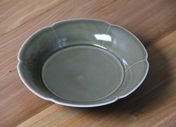 茶葉末釉葵口壶承 Tea Dust Glaze Tea Tray