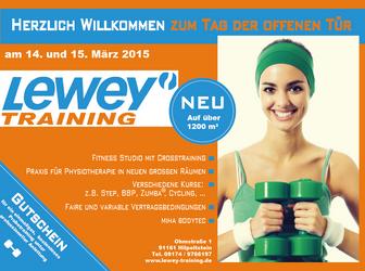 Tag der offenen Tür am 14. und 15. März bei Lewey Training in Hilpoltstein