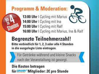 1. Indoor Cycling-Marathon im Studio Hilpoltstein