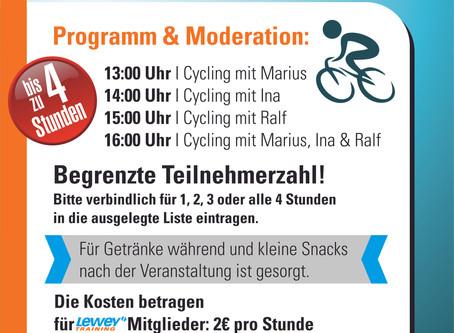 1. Indoor Cycling-Marathon im Studio Hilpoltstein