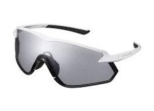 Shimano eyewear S-PHYRE X CE-SPHX1-PH Matte Metallic White, Photochromic D Gray