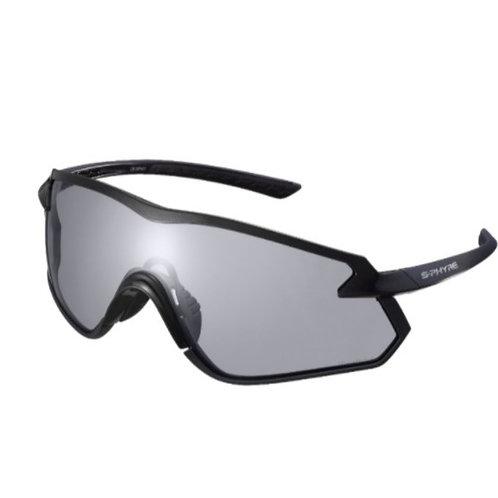 Shimano eyewear S-PHYRE X CE-SPHX1PH Matte Metallic Black, Photochromic D Gray