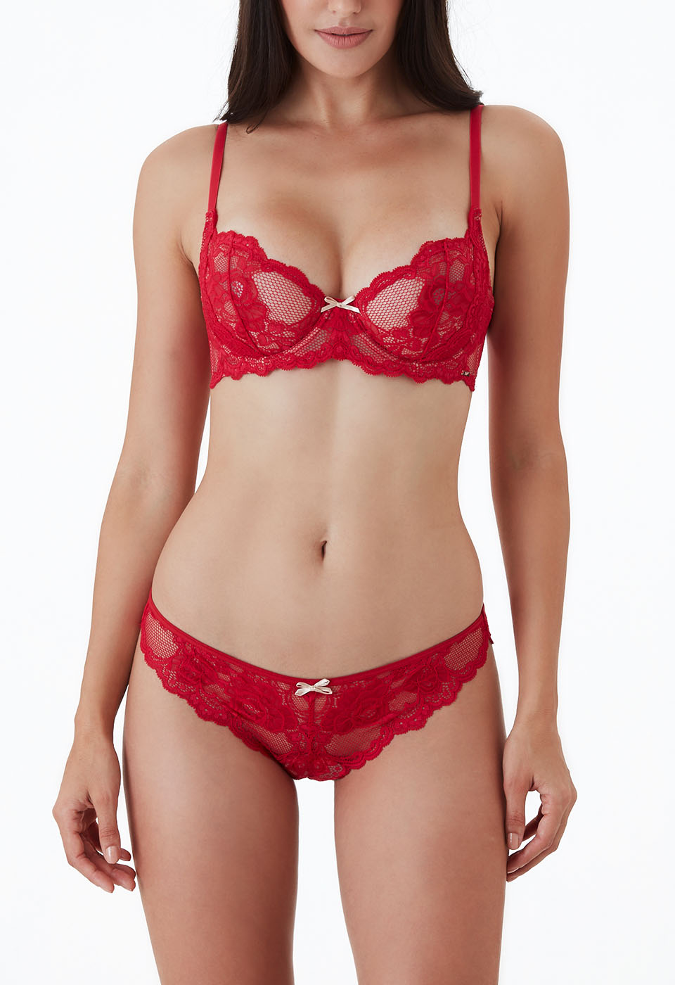 Alicia Velvet Red Set