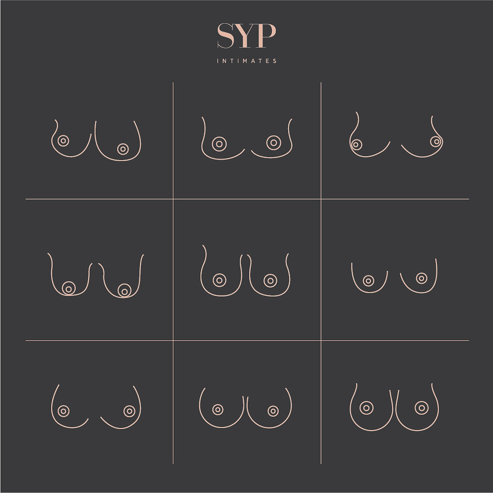 SYP Intimates Types of Boobs