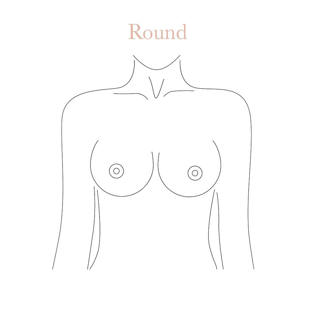 Round boobs shape