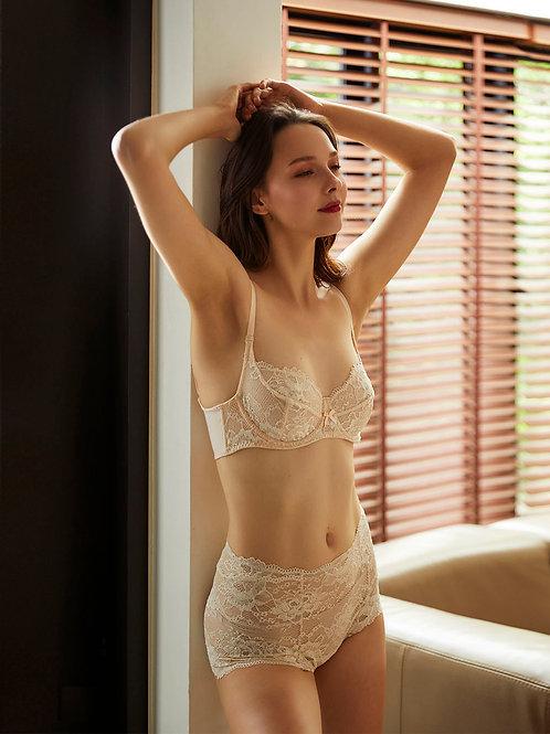 Pearled Ivory Selene Balconette Bra