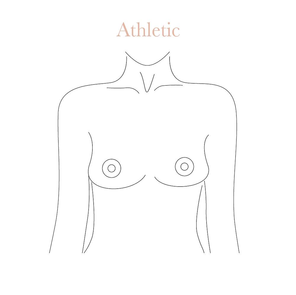 Athletic boobs shape