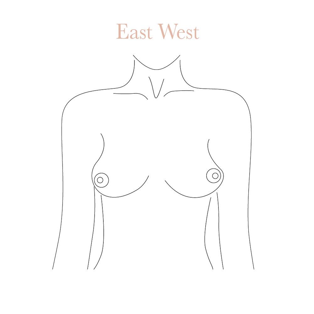 East West boobs shape