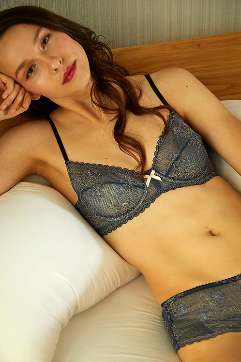 Peacock Blue Freya Silk Underwire Bra