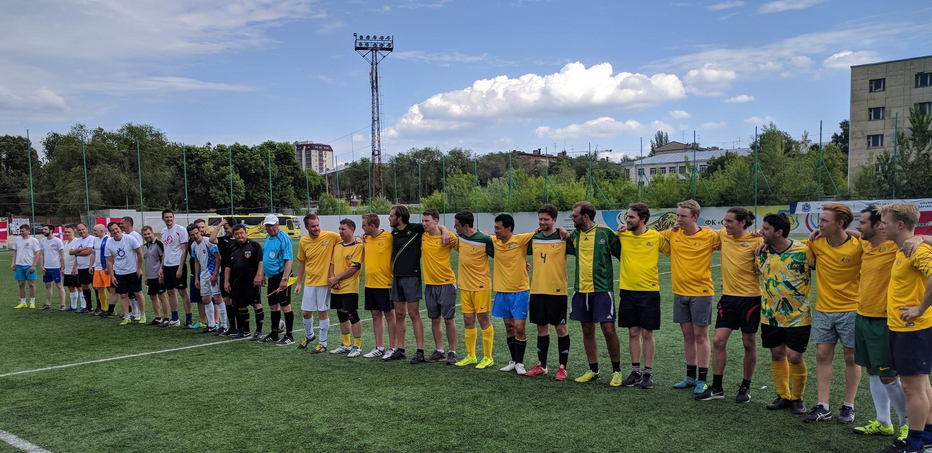 Aussie Supporteroos v Samara Press Team at Cosmos Cup in Samara