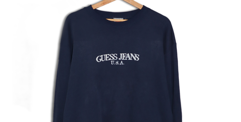 EARLY 1990s BOOTLEG GUESS JEANS USA CREWNECK SWEATSHIRT | L