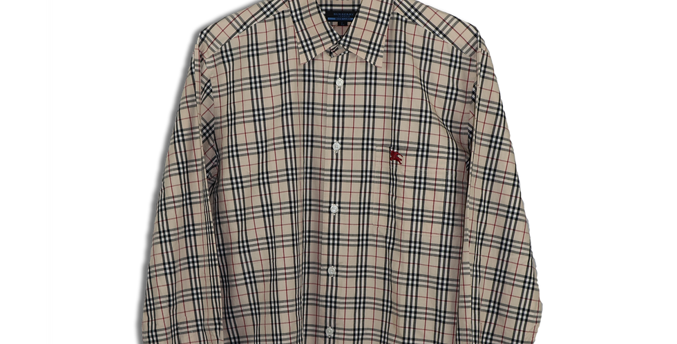 LATE 1990s BURBERRY NOVA CHECK SHIRT | L