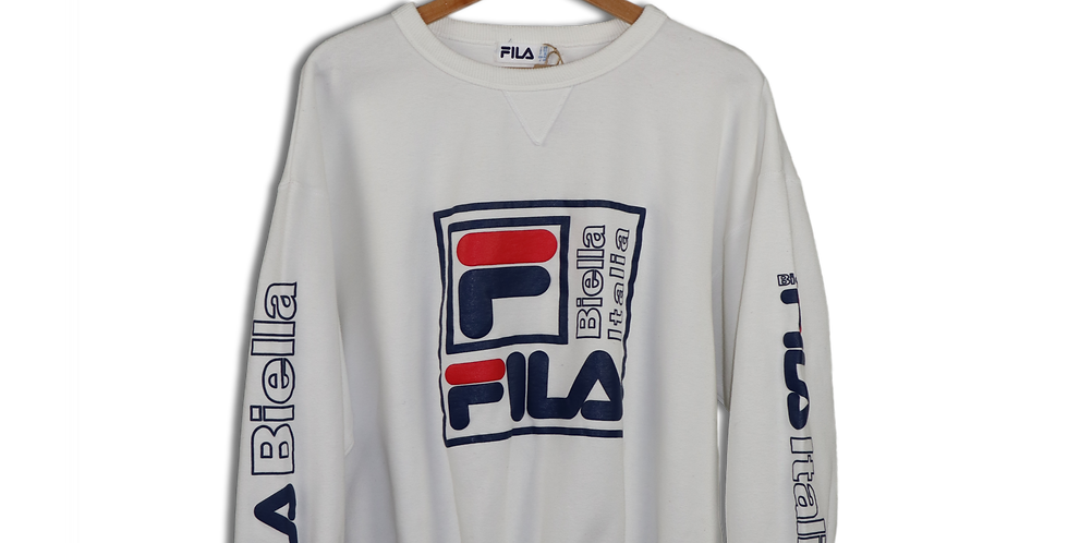 EARLY 1990s FILA BIELLA ITALIA CREWNECK SWEATSHIRT | L