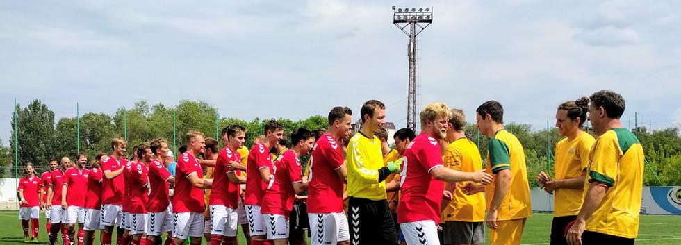 Match v Denmark at Cosmos Cup in Samara