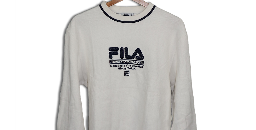 EARLY 1990s FILA CREWNECK SWEATSHIRT | L