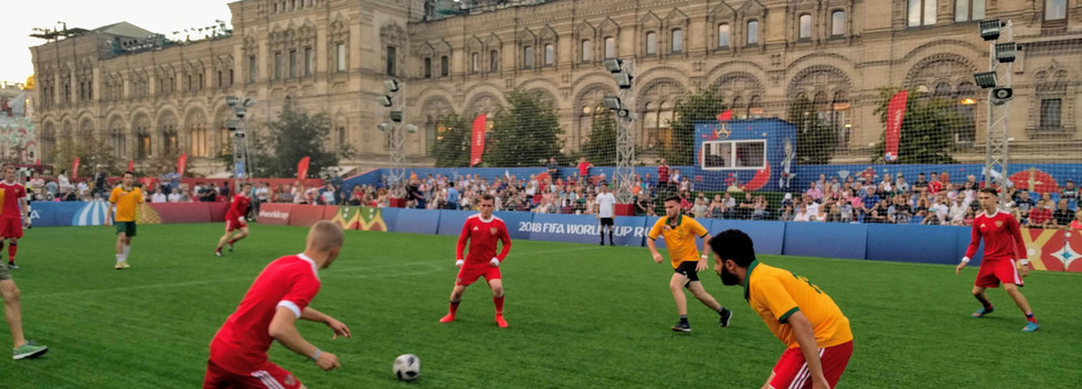 Friendly v Russia on the Red Square in Moscow