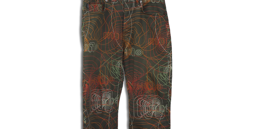 MOSCHINO PRINT TROUSERS | W33 L32