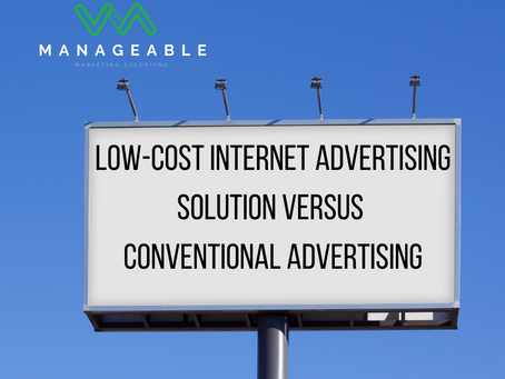 Low-Cost Internet Advertising Solution versus Conventional Advertising