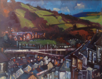 Louise Collis Trehafod painting