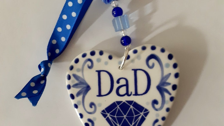 Blue & White handmade decorations