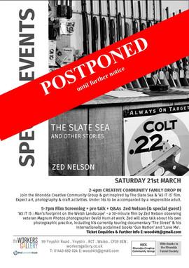 Zed Nelson special event 21 3 20 postpon