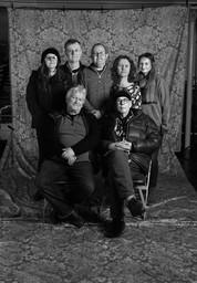 Photoshoot team with David Hurn