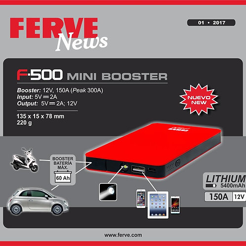 FERVE F-500 | Mini Booster / Powerbank 12V/5V