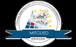 Der VEGS bestätigt unsere Sachkunde und Qualifikation