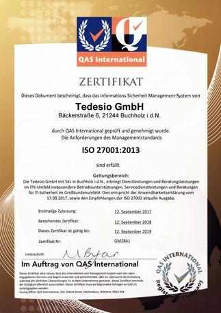ISO-Zertifikate erfolgreich erneuert – zu Ihrer Sicherheit und zum Schutz Ihrer Daten