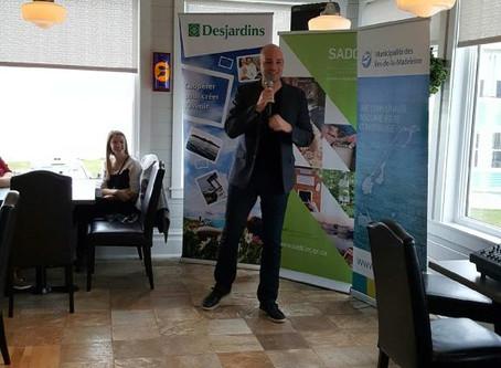 L'entrepreneur Nicolas Duvernois livre un témoignage inspirant aux gens d'affaires des Îles !