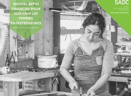 Nouvel appui financier pour soutenir les entrepreneurs femmes