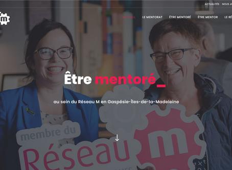 Site web pour le Réseau M - Mentorat pour entrepreneurs Gaspésie-Les Îles